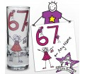 Personalised Purple Ronnie Age Elder Female Shot Glass