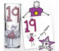 Personalised Purple Ronnie Age Young Female Shot Glass