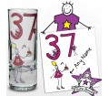 Personalised Purple Ronnie Age Middle Female Shot Glass