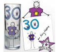 Personalised Purple Ronnie Age Middle Male Shot Glass