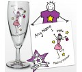 Personalised Purple Ronnie Wedding Maid of Honour Flute