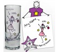 Personalised Purple Ronnie Wedding Maid of Honour Shot Glass