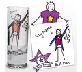 Personalised Purple Ronnie Wedding Best Man Shot Glass