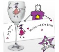 Personalised Purple Ronnie Wedding Mother of the Bride Wine Glass