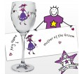 Personalised Purple Ronnie Wedding Mother of the Groom Wine Glass
