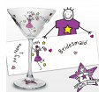 Personalised Purple Ronnie Wedding Bridesmaid Cocktail Glass