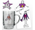 Personalised Tankard - Purple Ronnie (Wedding - Father of the Groom)