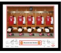 Personalised Manchester United Dressing Room Frame
