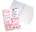 Personalised Notebook A5 - Lots of Loves