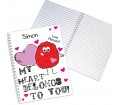 Personalised Notebook A5 - Monster Heart