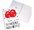 Personalised Notebook A5 - Snuggle Monster