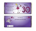 Personalised Purple Ronnie Age Middle Female Chocolate