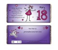 Personalised Purple Ronnie 18th Female Chocolate