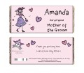 Personalised Purple Ronnie Wedding Mother of the Groom Chocolate