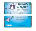 Personalised Chocolate Bar - Purple Ronnie (Groovy Dad)