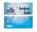 Personalised Chocolate Bar - Purple Ronnie (Perfect Dad)