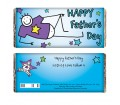 Personalised Chocolate Bar - Purple Ronnie (Father's Day)