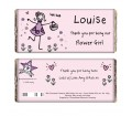 Personalised Chocolate Bar - Purple Ronnie (Wedding - Flower Girl)
