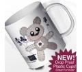 Personalised Boys Plastic Cup - Cotton Zoo (Tweed the Bear)