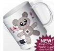 Personalised Girls Plastic Cup - Cotton Zoo (Tweed the Bear)