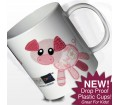 Personalised Girls Plastic Cup - Cotton Zoo (Organdie the Piglet)