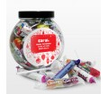 Christmas Round Sweetie Jar