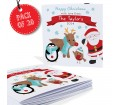 Personalised Felt Stitch Friends Pack of 20 Christmas Cards