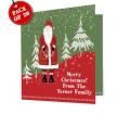 Personalised Father Christmas Christmas Cards Pack of 20