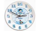 Personalised Clock - Pirate Letter (Boys)