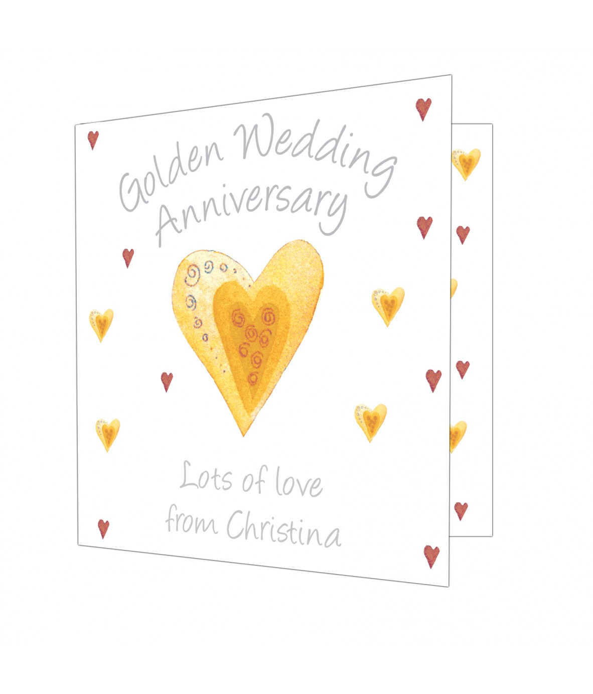 Personalised Golden Anniversary Card - Just for Gifts