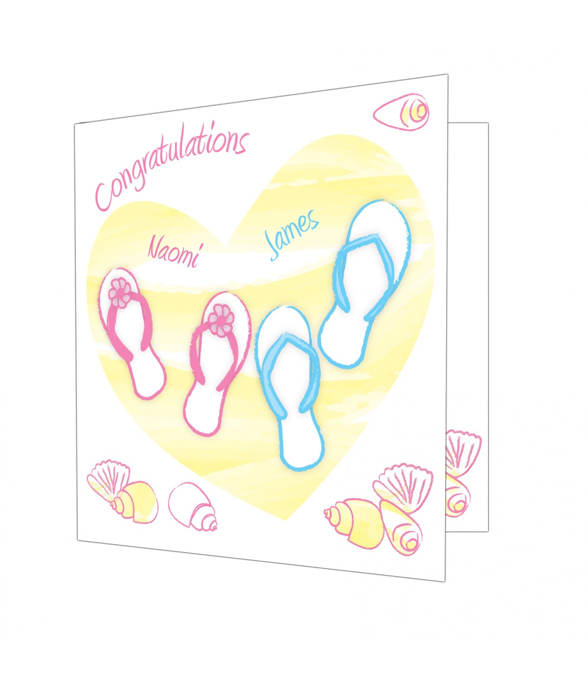 Wedding Gift Card Uk : Personalised Beach Wedding Card - Just for Gifts
