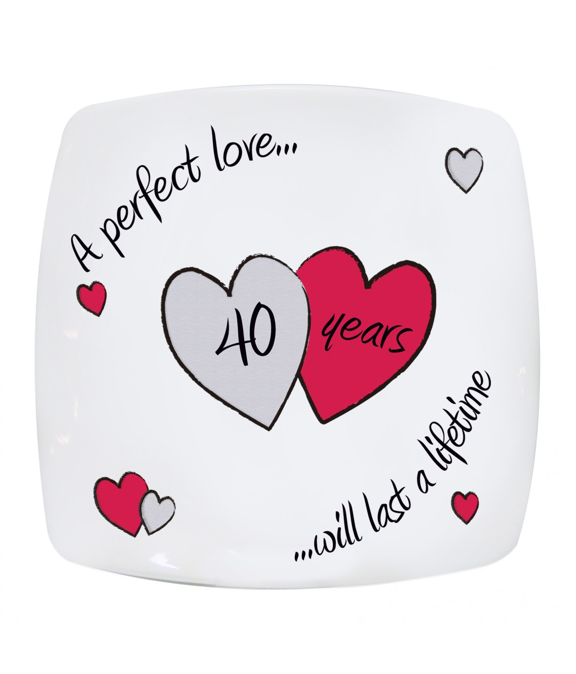 Perfect Love Ruby Anniversary Plate Just For Gifts