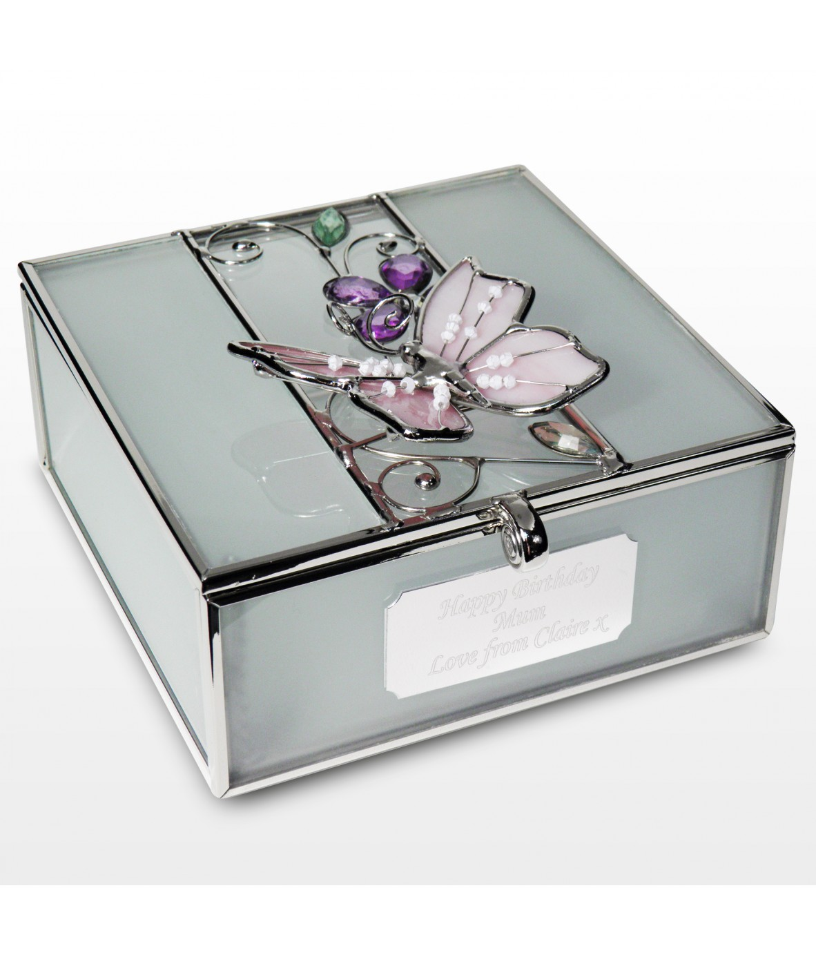 Personalised Butterfly Trinket Box Just For Gifts
