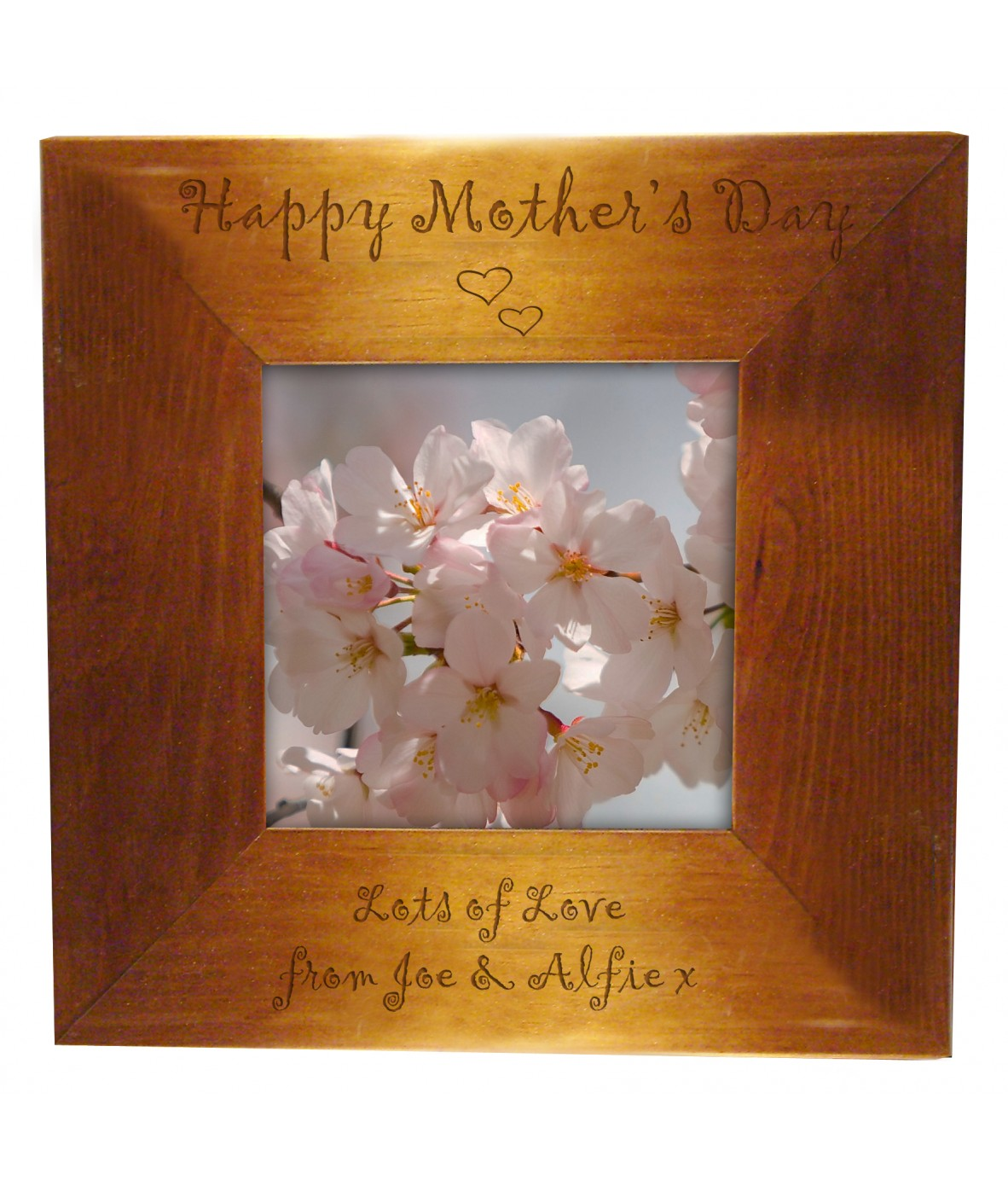 Personalised Happy Mother\'s Day Wooden Frame - Just for Gifts