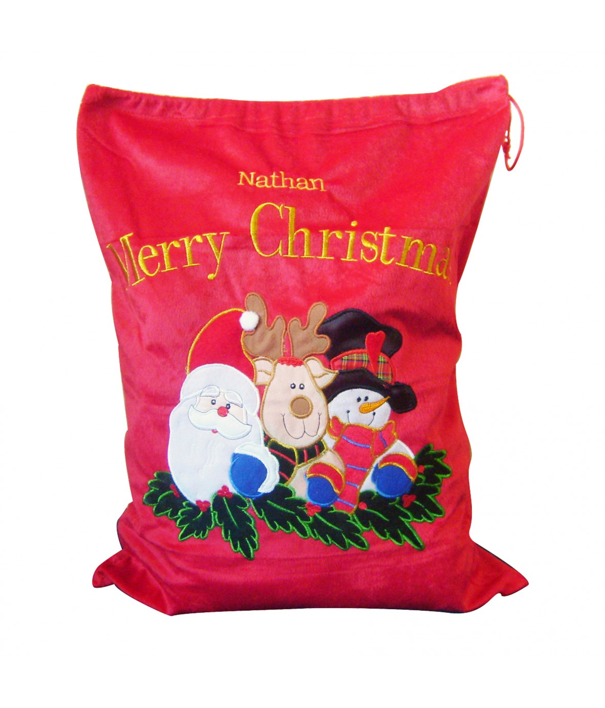 Personalised santa sack toy bag for christmas just