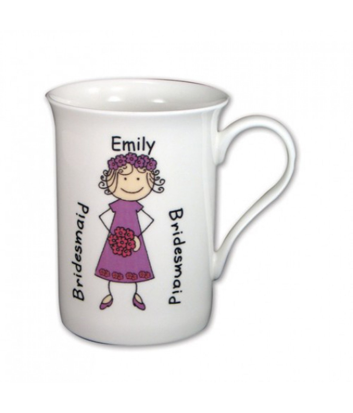 personalised bridesmaid cartoon mug just for gifts. Black Bedroom Furniture Sets. Home Design Ideas