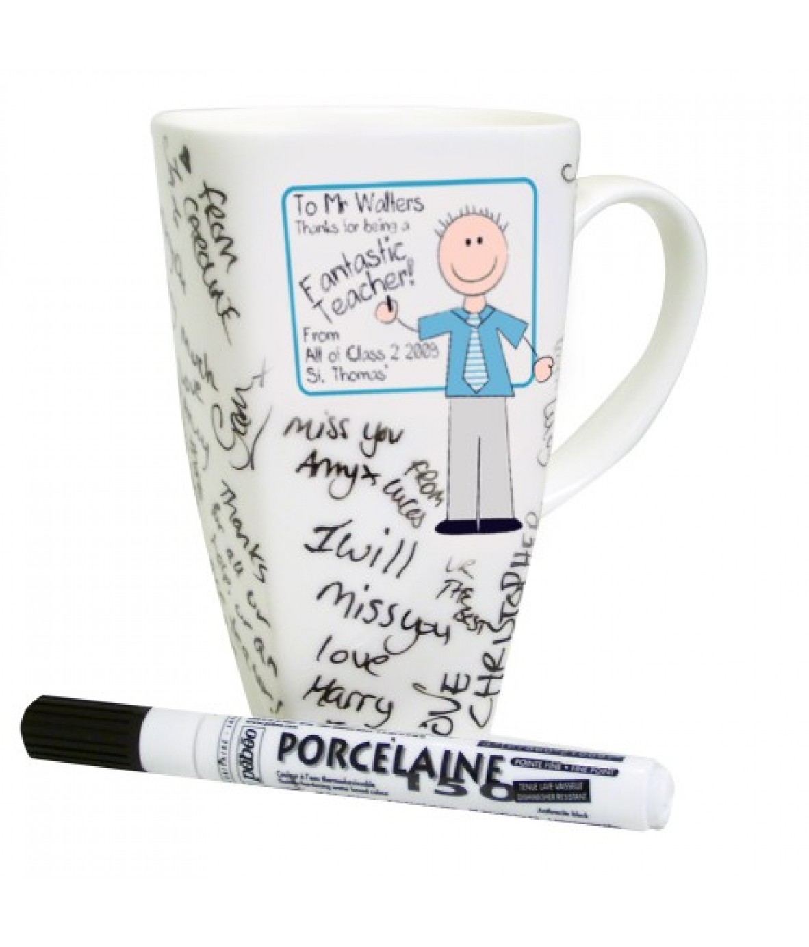 Personalized mugs cheap uk - Personalised Blue Teachers Whiteboard Message Mug Loading Zoom
