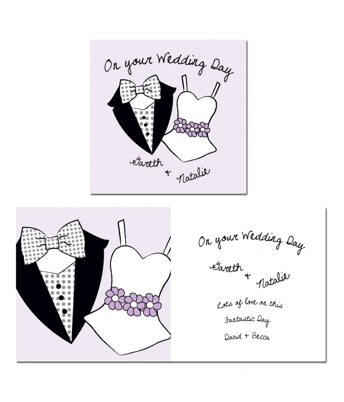 Personalised On Your Wedding Day Card - Just for Gifts