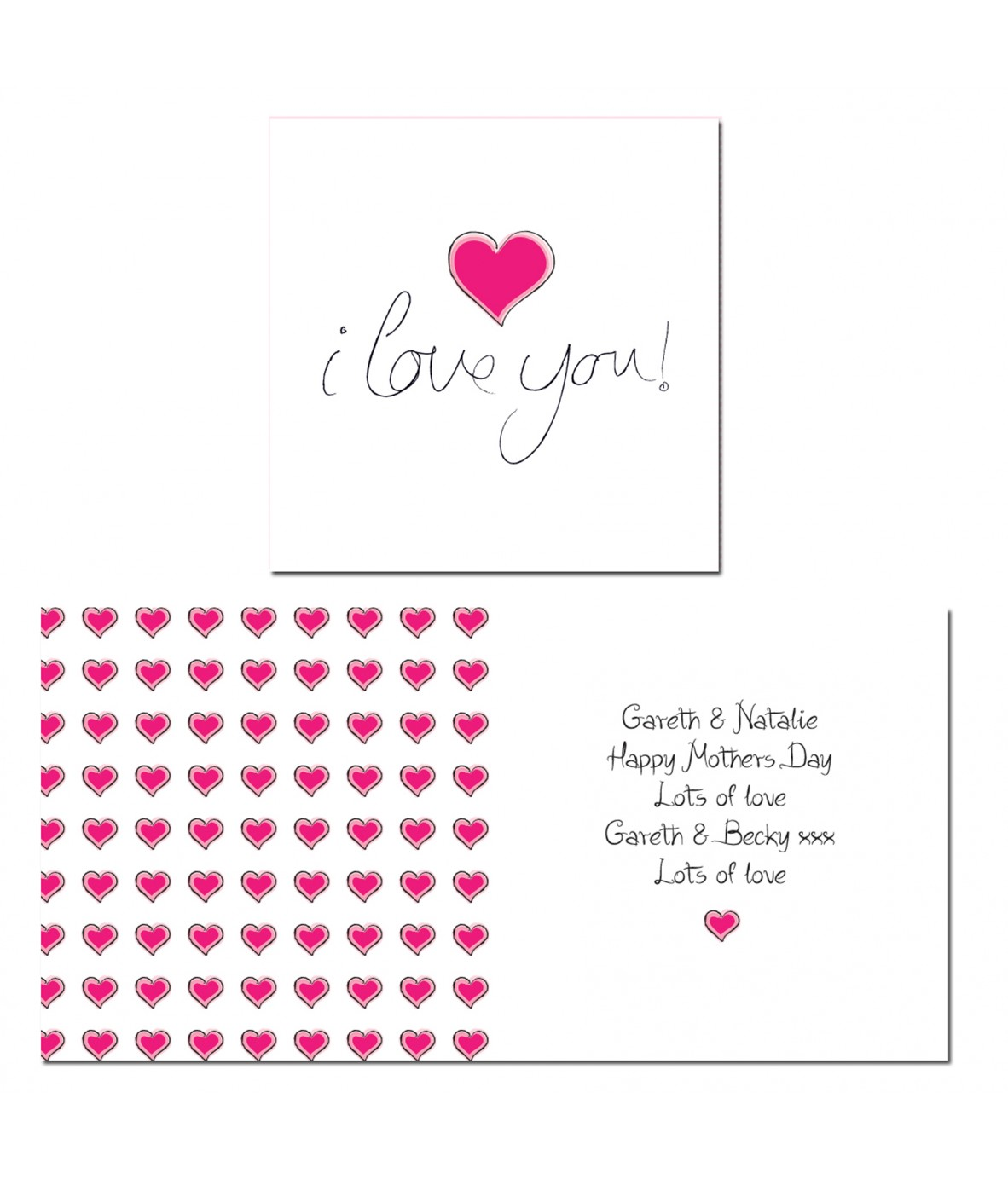 personalised i love you card  just for gifts