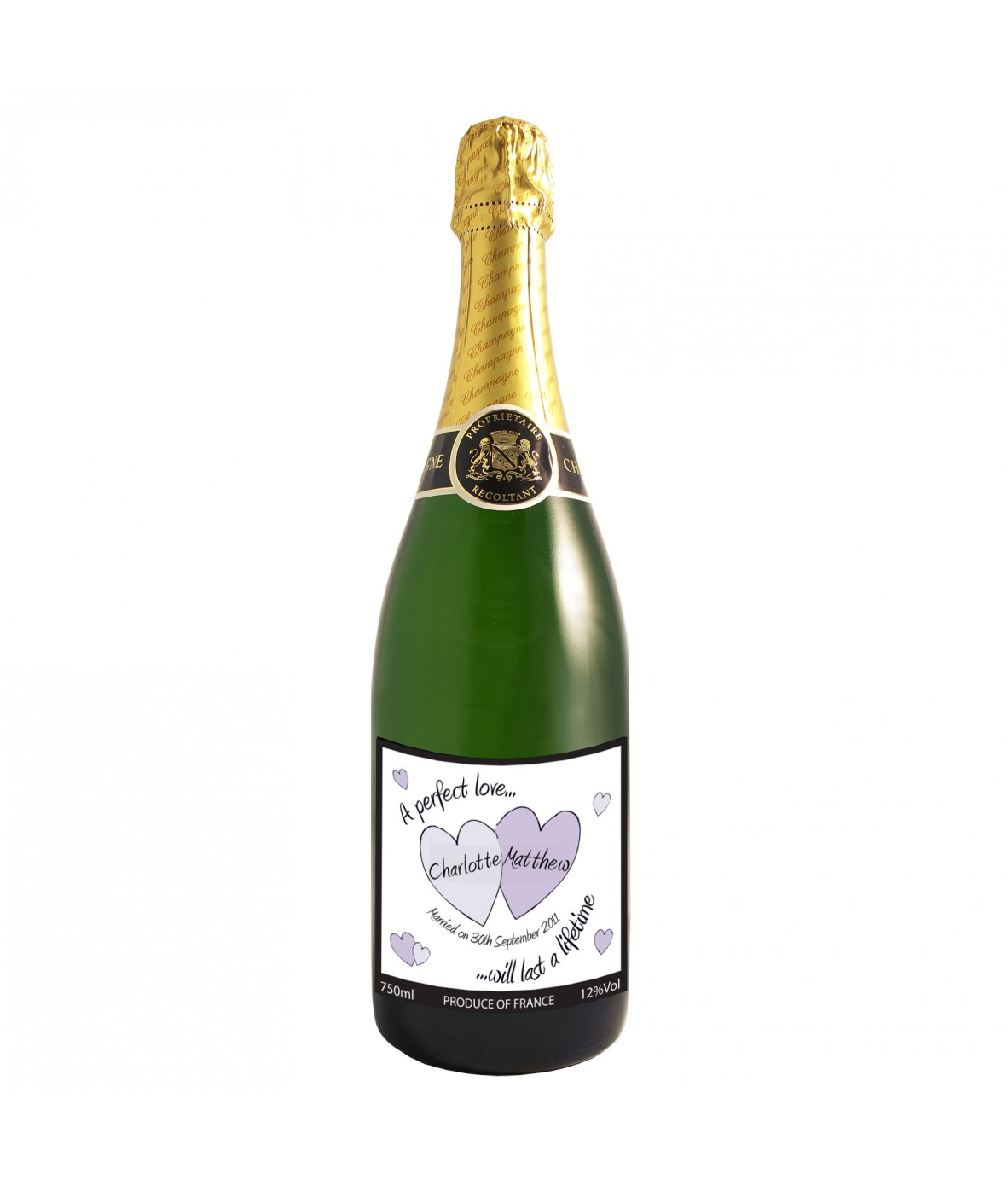 Personalised Wedding Gift Champagne : Personalised Wedding ChampagnePerfect LoveJust for Gifts