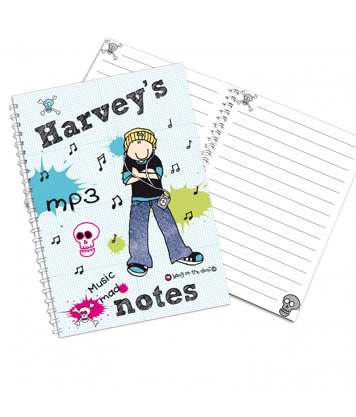 Loading zoom  sc 1 st  Personalised Gifts - Just for Gifts & Personalised Bang on the Door MP3 Mad A5 Notebook - Just for Gifts