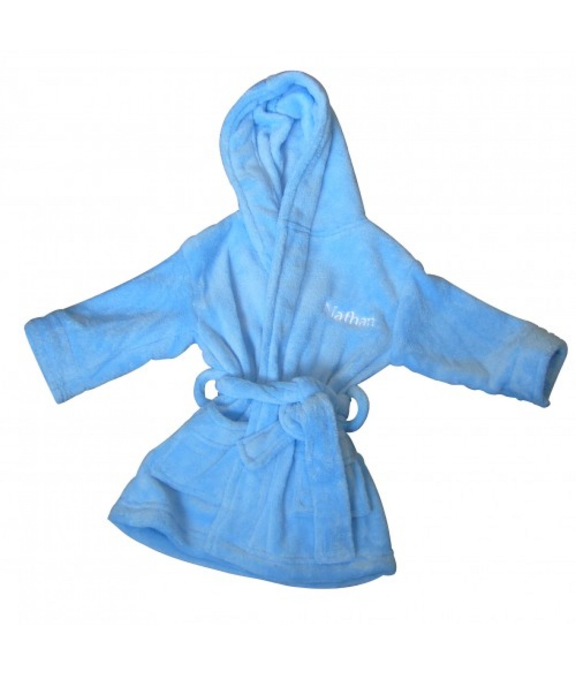 Personalised Baby Boys Dressing Gown Blue 6 12 Months Just