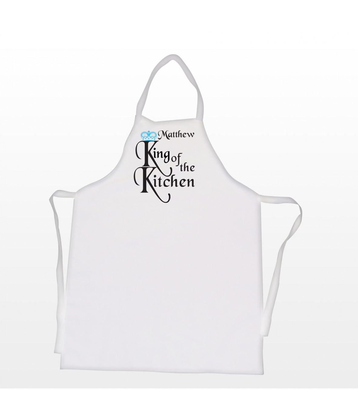 Personalised Apron – Men\'s (King of the Kitchen) - Just for Gifts