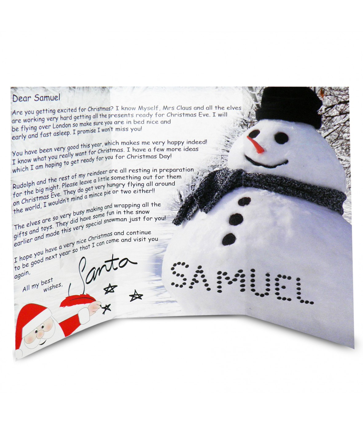 Personalised letter from santa snowman just for gifts personalised letter from santa snowman loading zoom spiritdancerdesigns