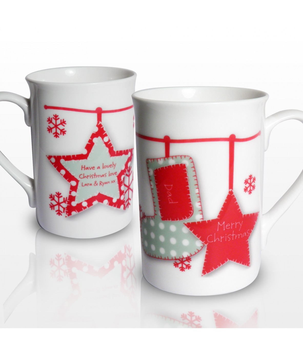 personalised christmas mug stocking just for gifts. Black Bedroom Furniture Sets. Home Design Ideas