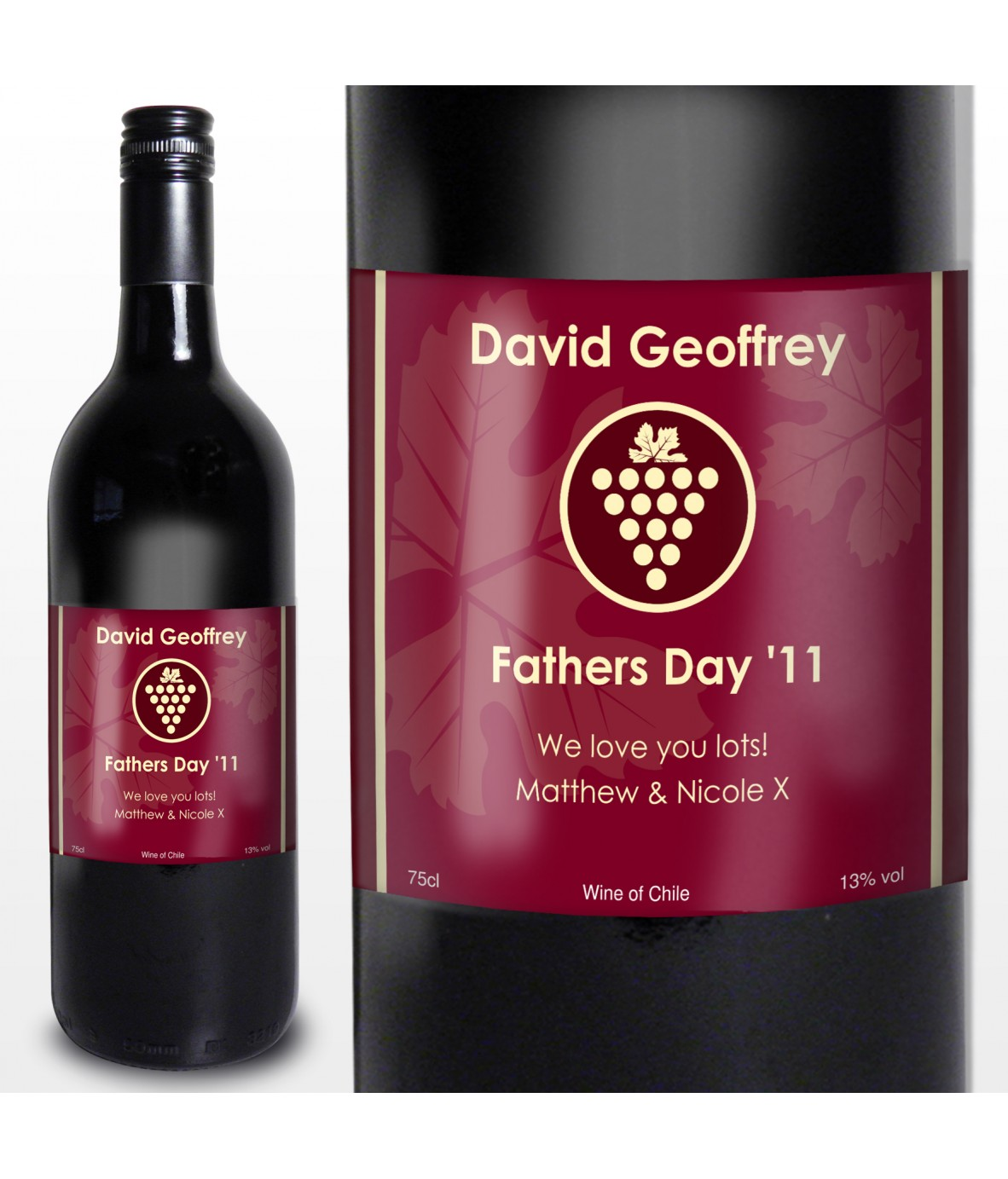 Red Wine Grape Label