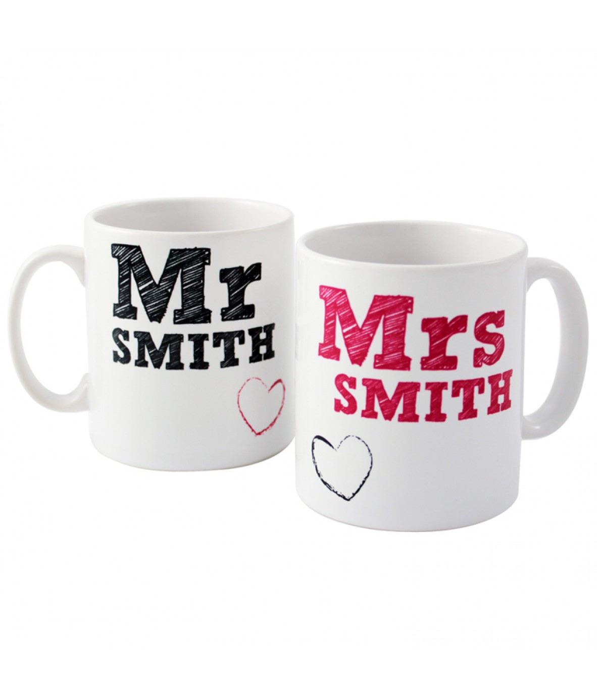 personalised mug set mr and mrs mugs just for gifts. Black Bedroom Furniture Sets. Home Design Ideas