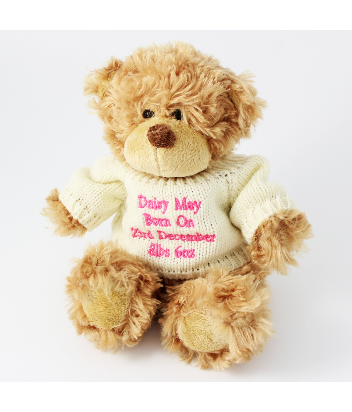e2649c4090b Personalised Pink Tatty Teddy Message Bear - Just for Gifts